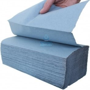 1 Ply - Blue - V-Fold -Paper Hand Towels