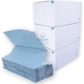 1 Ply - Blue - V-Fold -Paper Hand Towels - Ready Made Parcel