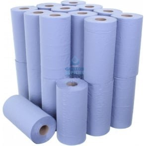 "10"" Wiper Rolls - 3 Ply - Blue"