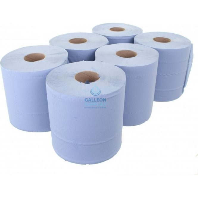 Galleon 2 Ply Blue Centrefeed Rolls
