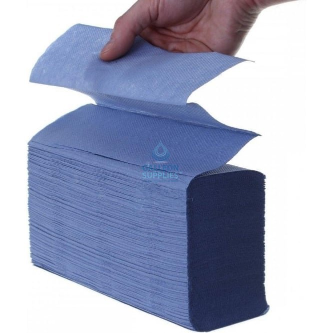 Galleon 2 Ply - Blue - Interleaved - Paper Hand Towels