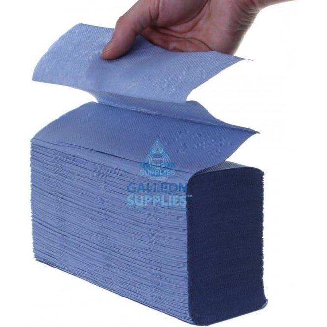 Galleon 2 Ply - Blue - Interleaved - Paper Hand Towels - Pallet