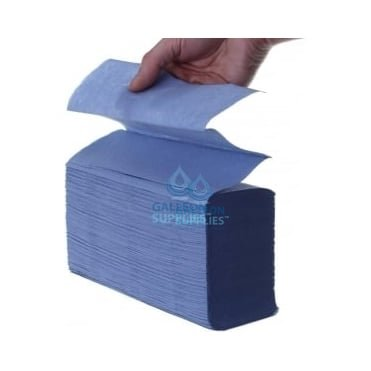 2 Ply - Blue - Interleaved - Paper Hand Towels - Pallet