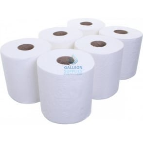 2 Ply White Centrefeed Rolls