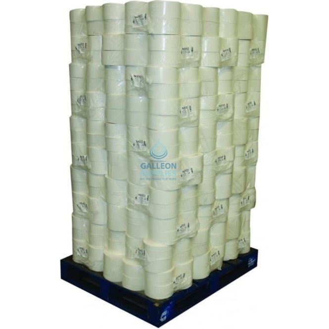 Galleon 2 Ply White Centrefeed Rolls - Pallet