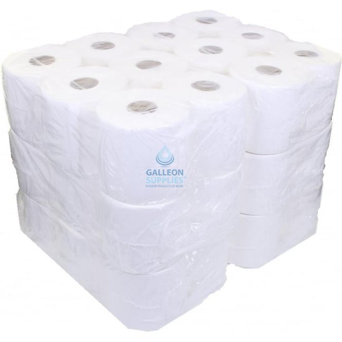 Galleon 2 Ply White Centrefeed Rolls - Ready Made Parcel