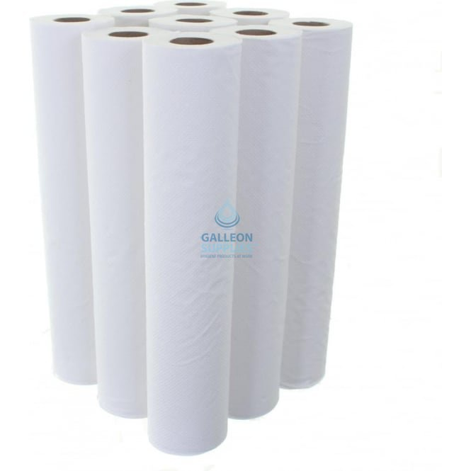 Galleon 2 Ply White Couch Rolls