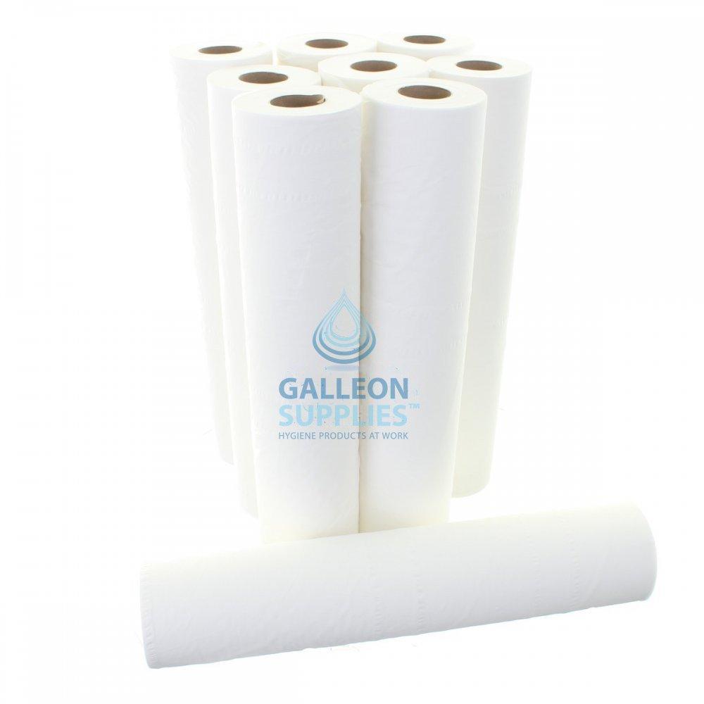 Galleon 2 Ply White Couch Rolls 9 Rolls Galleon Supplies