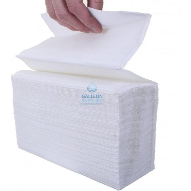 Katrin 2 Ply - White - Interleaved - Flushable Paper Hand Towels