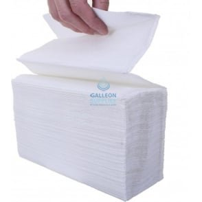 2 Ply - White - Interleaved - Flushable Paper Hand Towels
