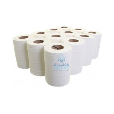 2 Ply White Mini Centrefeed Rolls