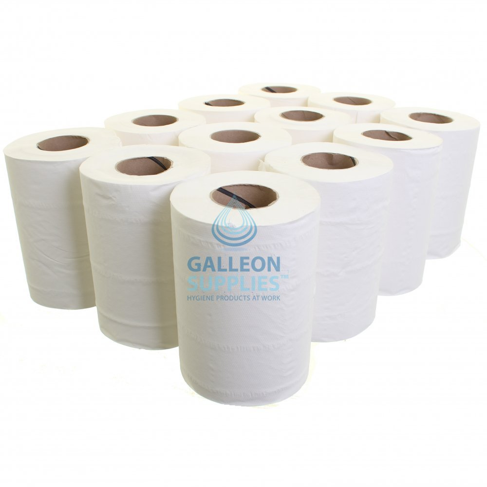 High Quality Centrefeed Rolls with Mountable ABS Centrefeed Dispenser Unit 12 Blue Centrefeed Rolls /& Dispenser