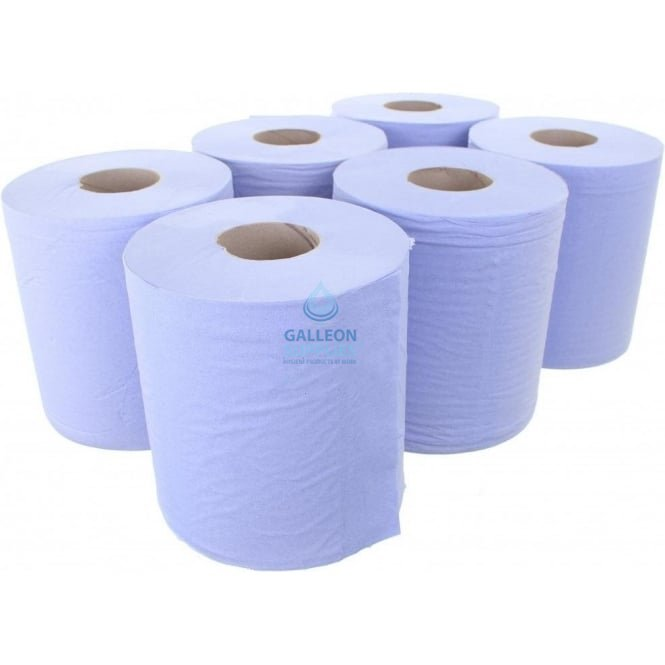 Galleon 3 Ply Premium Blue Centrefeed Rolls