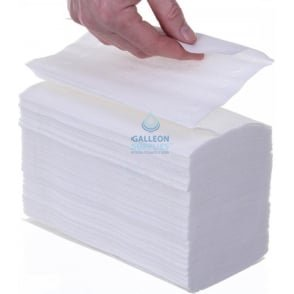 Airflex - White - Interleaved - Paper Hand Towels.