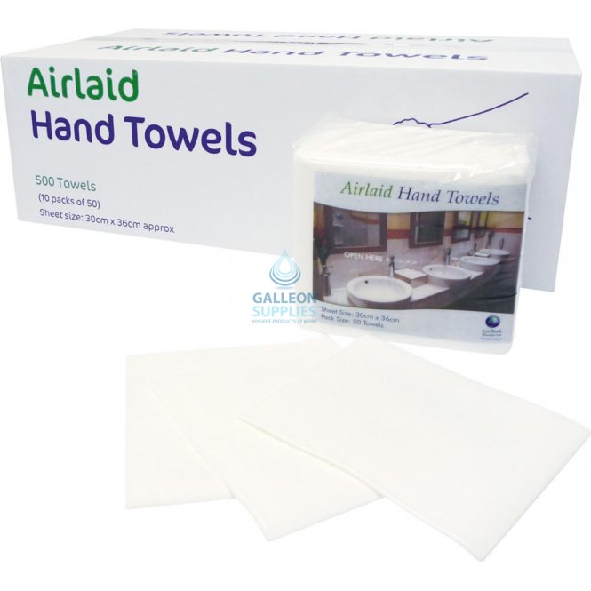 Galleon Airlaid - White - Executive Hand Towels