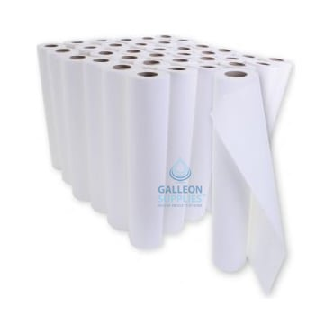 BUNDLE OFFER : £11.25 PER CASE - Embossed 2 Ply White Couch Rolls