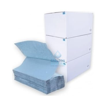 BUNDLE OFFER : £15.00 PER CASE - FREE DELIVERY - Blue - V-Fold -Paper Hand Towels