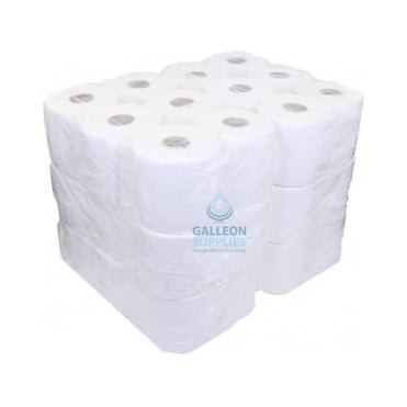BUNDLE OFFER: £7.25 CASE - FREE DELIVERY - Embossed 2 Ply White Centrefeed Rolls