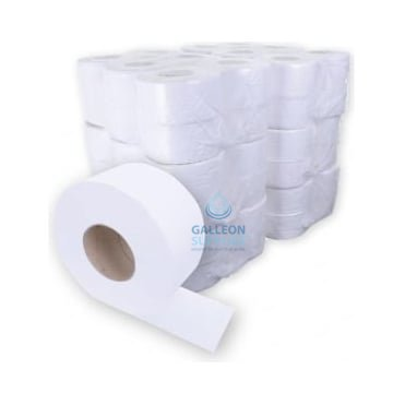 BUNDLE OFFER : £7.25 PER CASE - FREE DELIVERY - Mini Jumbo Toilet Rolls - 2 Ply - Embossed