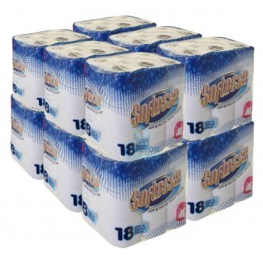 BUNDLE OFFER : £8.00 PER CASE - FREE DELIVERY - Toilet Rolls - 2 Ply - Embossed