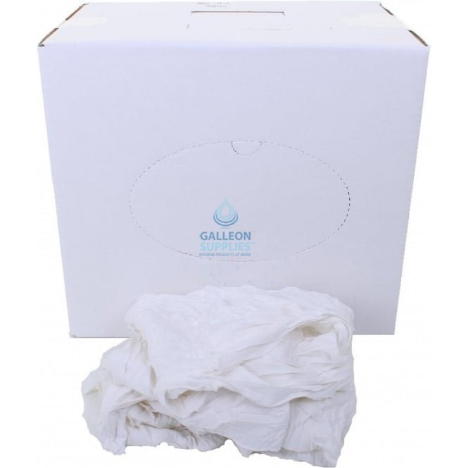 Galleon Cleaning Rags - Cotton Polishing Cloth - White