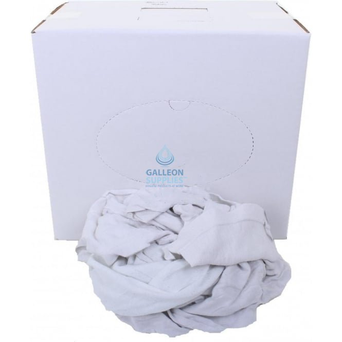 Galleon Cleaning Rags - T Shirt - White