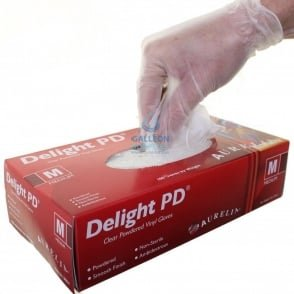 Delight - Vinyl Gloves - Powdered