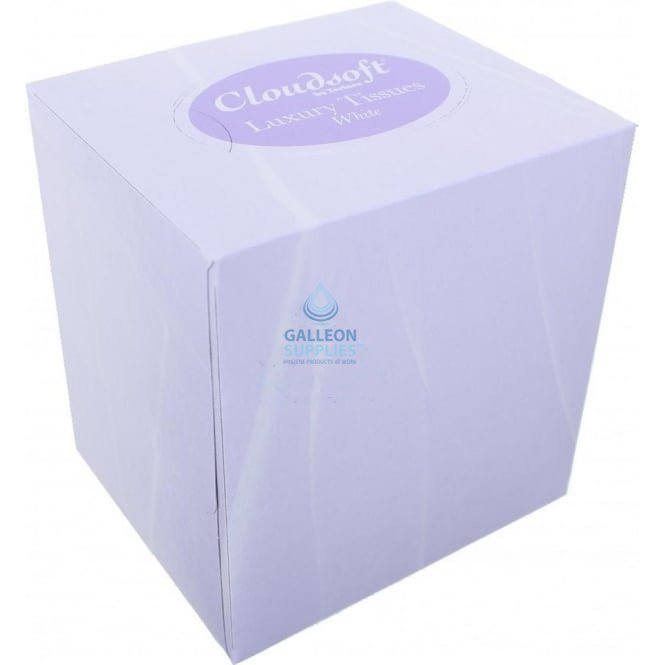Cloudsoft Facial Tissues - 2 Ply White