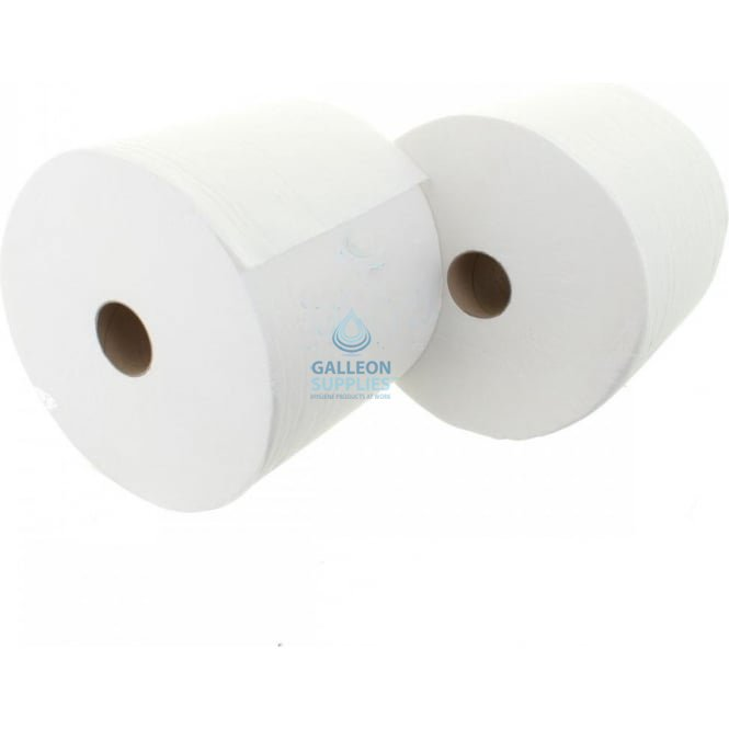 Galleon Forecourt Rolls - 2 Ply - White - Twin Pack