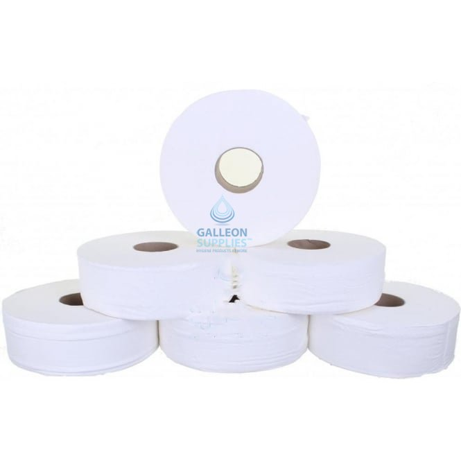 "Galleon Jumbo Toilet Rolls - 2 Ply - 3"" Core"