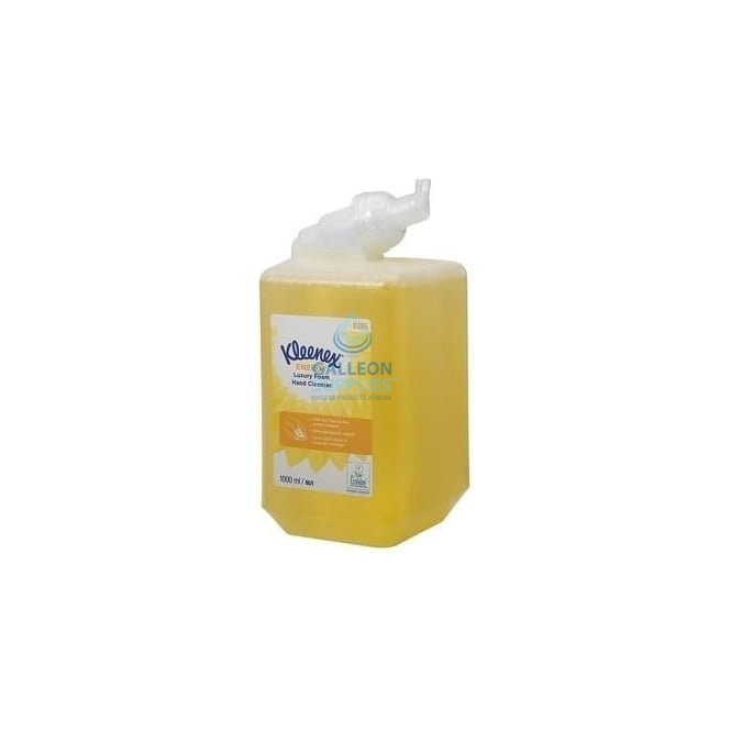 Kleenex ® ENERGY Luxury Foam Hand Cleanser - 1 Litre Cassette / Yellow /1 Litre x 6