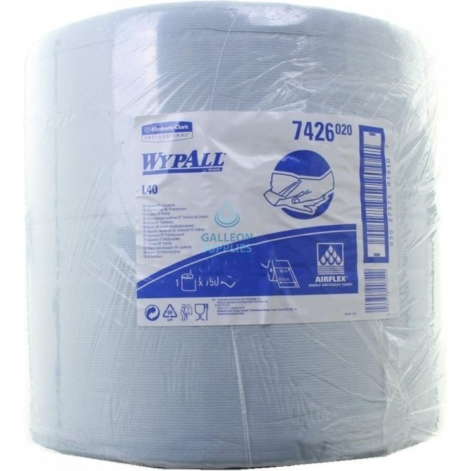 Wypall L30 Ultra + Large Wiper Roll - 3 Ply - Blue