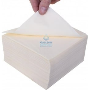 Lunch Napkin - 2 Ply - Cream - 33cm x 33cm