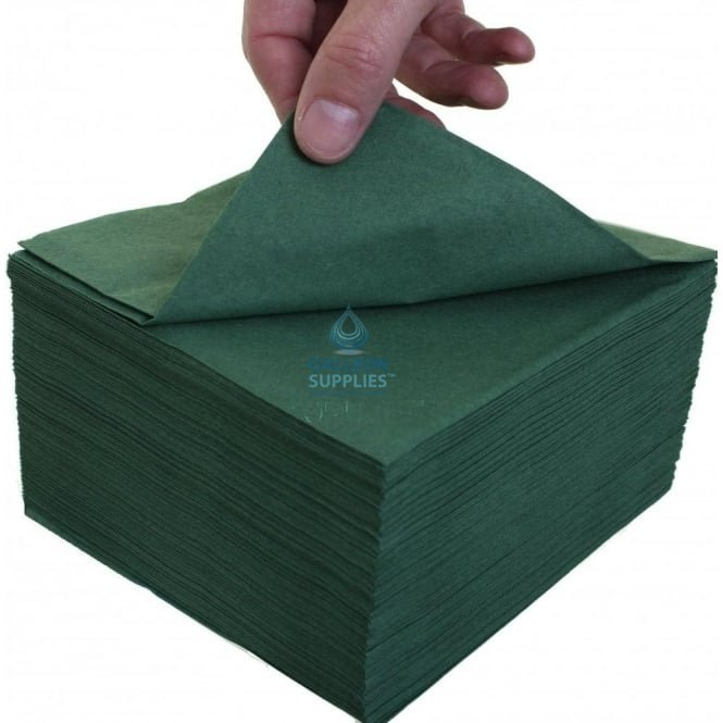Katrin Lunch Napkin - 2 Ply - Green - 33cm x 33cm