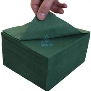 Lunch Napkin - 2 Ply - Green - 33cm x 33cm