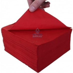 Lunch Napkins - 2 Ply - Red - 33cm x 33cm