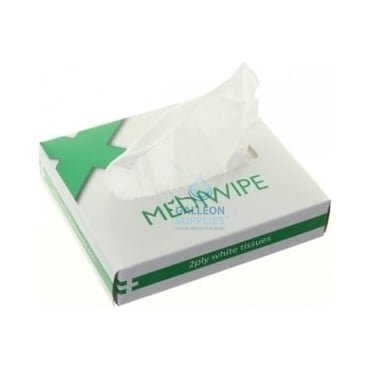 Medical Wipes - 2 Ply White
