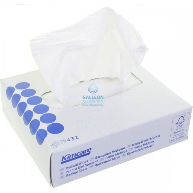 Kimcare Medical Wipes - 2 Ply White