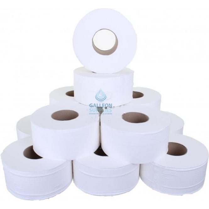 "Galleon Mini Jumbo Toilet Rolls - 2 Ply - 3"" Core"