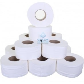 "Mini Jumbo Toilet Rolls - 2 Ply - Embossed - 3"" Core"