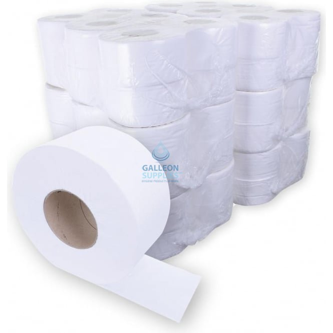 Galleon Mini Jumbo Toilet Rolls - 2 Ply - Embossed - Ready Made Parcel