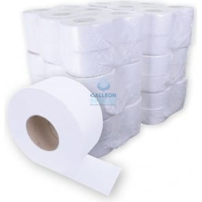 Mini Jumbo Toilet Rolls - 2 Ply - Embossed - Ready Made Parcel