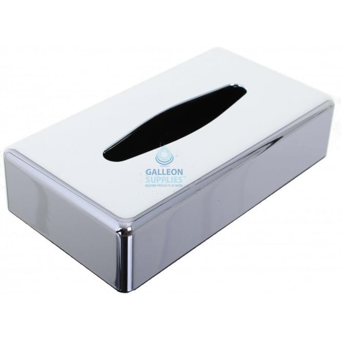Galleon Oblong Tissue Box Cover - Polished Chrome