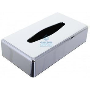 Oblong Tissue Box Cover - Polished Chrome