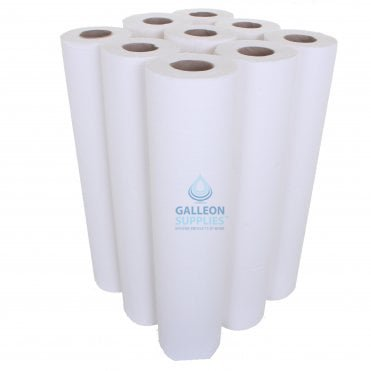 PALLET OFFER : £10.77 PER CASE - FREE DELIVERY - Embossed 2 Ply White Couch Rolls