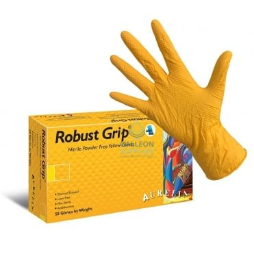 Robust Grip - Yellow Nitrile - Powder Free