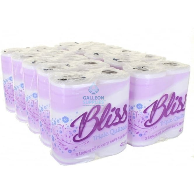 Bliss Toilet Rolls - 3ply - Quilted