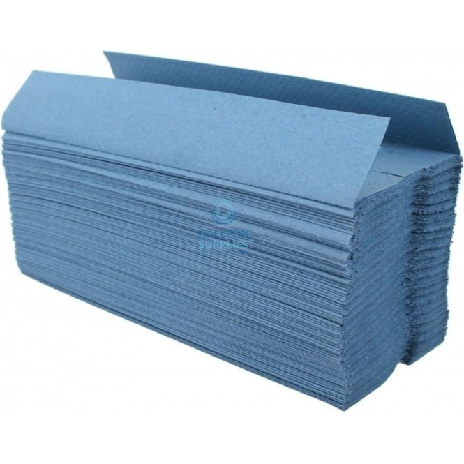 Galleon Value 1 Ply - Blue - C-Fold - Paper Hand Towels