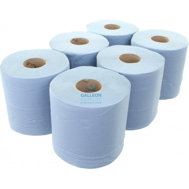 Galleon Value 2 Ply Blue Centrefeed Rolls
