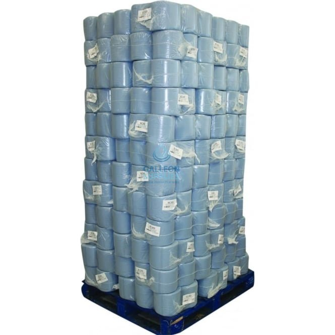 Galleon Value 2 Ply Blue Centrefeed Rolls - Pallet
